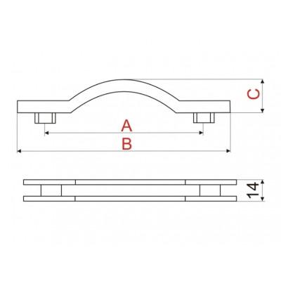 Мебелна дръжка US21 - GAMET - Цена: 3.30 лв.