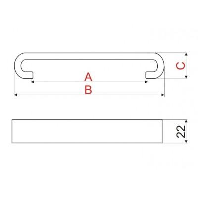 Мебелна дръжка US91 128 мм - GAMET - Цена: 9.00 лв.