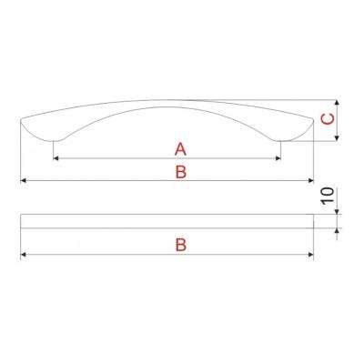 Мебелна дръжка UU03 160 мм - GAMET - Цена: 9.60 лв.