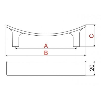 Мебелна дръжка UU22 - GAMET - Цена: 5.40 лв.