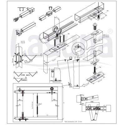 Механизъм за чупещи преградни врати ЕКОФОЛД - Laguna - Цена: 35.40 лв.