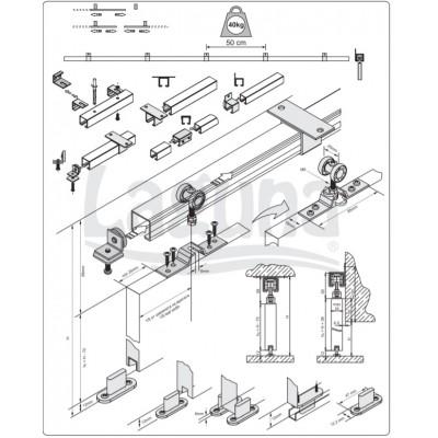 Механизъм за интериорни врати ЕКОНОМ - Laguna - Цена: 6.60 лв.