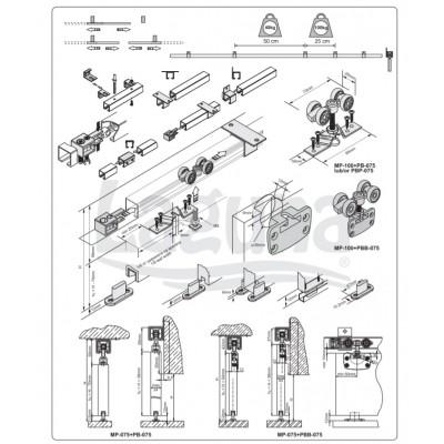 Механизъм за интериорни врати СТАНДАРТ - Laguna - Цена: 17.10 лв.