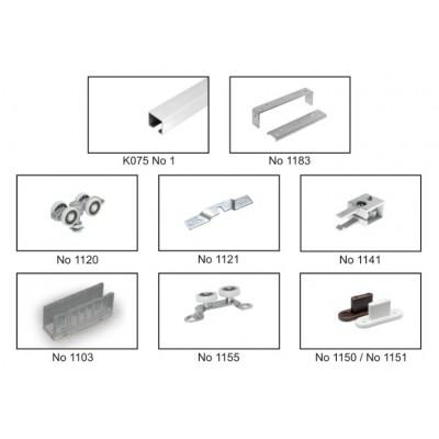 Механизъм за стъклена интериорна врата СУСПЕНД 18 - Laguna - Цена: 17.10 лв.