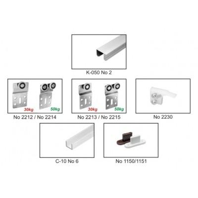 Механизъм за плъзгаща интериорна врата УНИФЮЧЪР - Laguna - Цена: 28.20 лв.