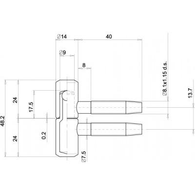 Панта за интериорна врата цилиндрична - Цена: 0.66 лв.