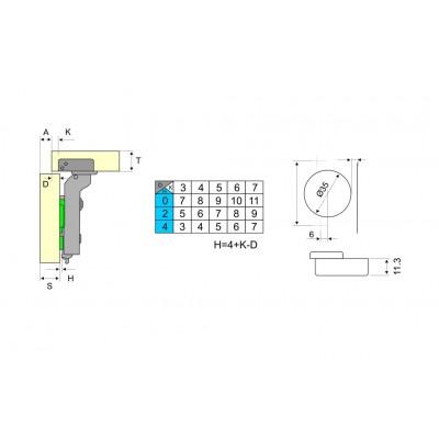 Панта 3D с амортисьор средно рамо - DANCO ITALY - Цена: 3.30 лв.