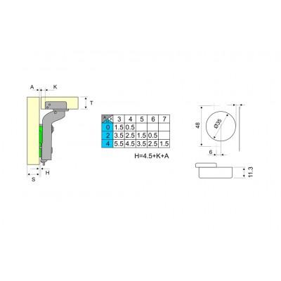 Панта 3D с амортисьор високо рамо - DANCO ITALY - Цена: 3.30 лв.