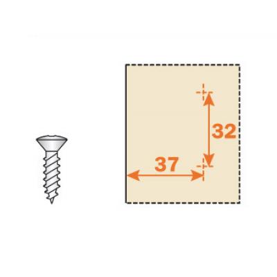 Основа за панти, Н= -2,0,2,3,4,6 - SALICE ITALY - Цена: 0.30 лв.