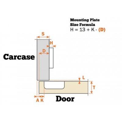 Панта за вграден хладилник - SALICE ITALY - Цена: 3.60 лв.