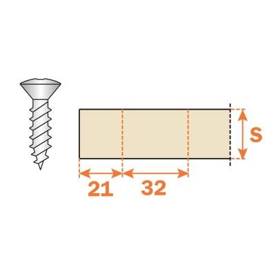 Основа за панти, клипс H = 2 - SALICE ITALY - Цена: 1.26 лв.