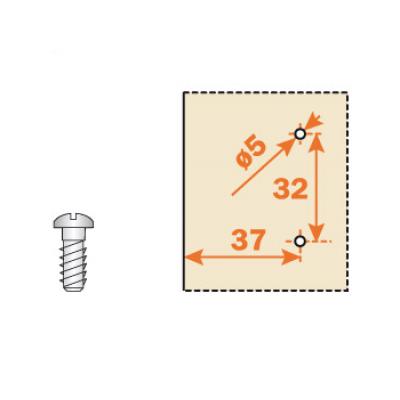 Основа за панти, евровинт, Н=0,2,3,4 - SALICE ITALY - Цена: 0.42 лв.