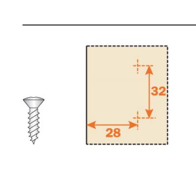 Основа за панти, H=9, за панта 180° - SALICE ITALY - Цена: 1.02 лв.