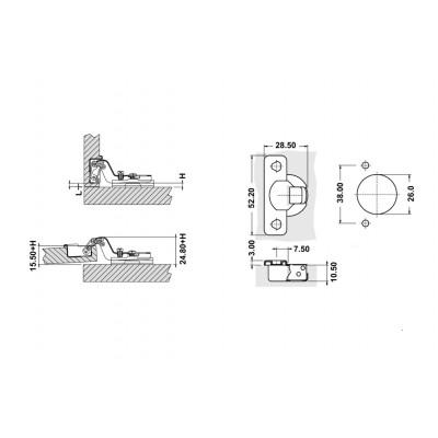 Панта МИНИ ф26мм - Цена: 0.48 лв.