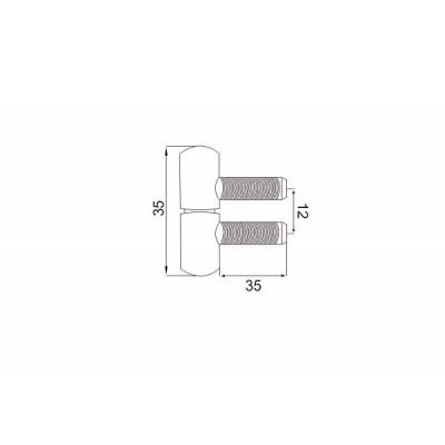 Панта за прозорец тип Ануба Еко - Цена: 1.68 лв.