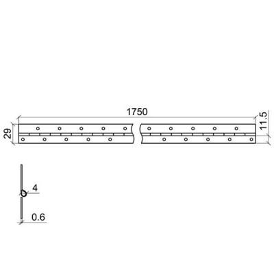 Клавирна панта 1750 мм - Цена: 2.40 лв.