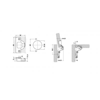 Пуш панта високо рамо - D`CONTI - Цена: 0.84 лв.