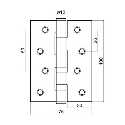 Панта за интериорна врата шарнирна - Цена: 1.80 лв.
