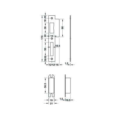 Брава за WC 55/20 мм, B=78 мм - HAFELE - Цена: 42.00 лв.