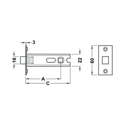 Брава 57/25 мм - HAFELE - Цена: 9.76 лв.