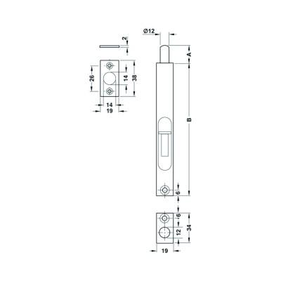 Ригла 19/151 мм - HAFELE - Цена: 12.12 лв.