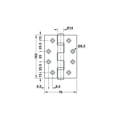 Шарнирна панта за безфалцова врата, Startec 102 мм - HAFELE - Цена: 14.76 лв.