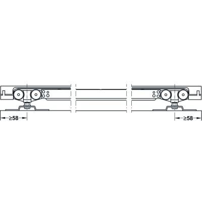 Механизъм за преградни плъзгащи се врати с едно крило Slido Classic 40-P без носеща шина - HAFELE - Цена: 51.77 лв.