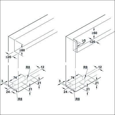 Механизъм за плъзгаща се врата Slido Design 80-M, широчина на вр. 1800 мм - HAFELE - Цена: 802.80 лв.