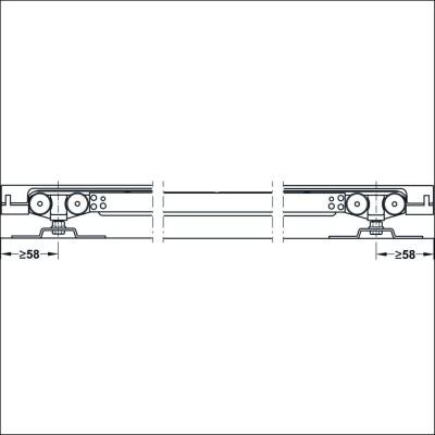 Механизъм за преградни плъзгащи се врати с едно крило Slido Classic 80-P без носеща шина, с плавно самоприбиране от двете страни - HAFELE - Цена: 274.44 лв.