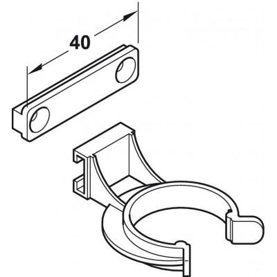 Щипка за мебелно краче AXILO™ 78 - HAFELE - Цена: 0.61 лв.