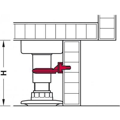 Щипка за мебелно краче с набиване в нут на цокъла AXILO™ 78 - HAFELE - Цена: 0.64 лв.