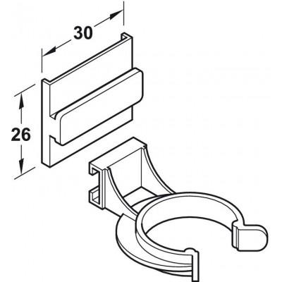 Щипка за мебелно краче за пластмасов или алуминиев цокъл AXILO™ 78 - HAFELE - Цена: 0.84 лв.