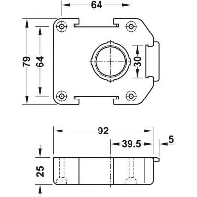 Монтажна планка за монтаж чрез винт AXILO™ 78 - HAFELE - Цена: 0.96 лв.