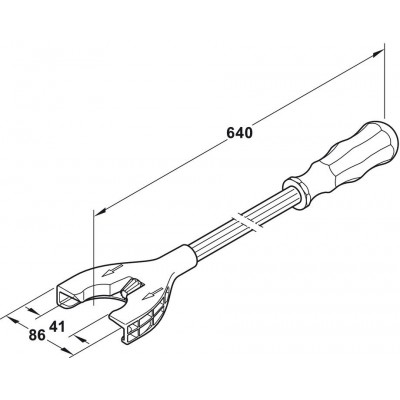 Инструмент за регулиране на крака ECONO AXILO™ 78 - HAFELE - Цена: 33.12 лв.