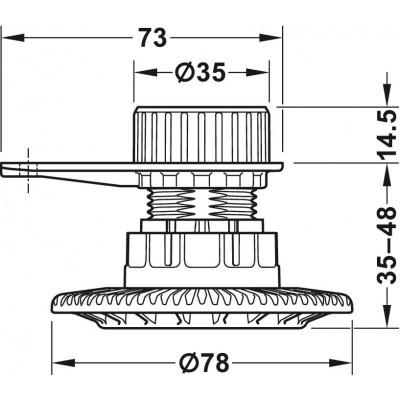 Регулируем крак AXILO™ 78 35-48 мм. - HAFELE - Цена: 2.63 лв.