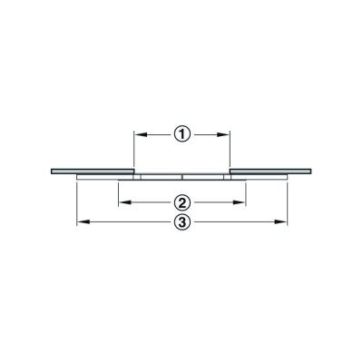 Механизъм асинхронен за разтегателна маса L 850 мм за доп. плот 640 мм - HAFELE - Цена: 63.72 лв.