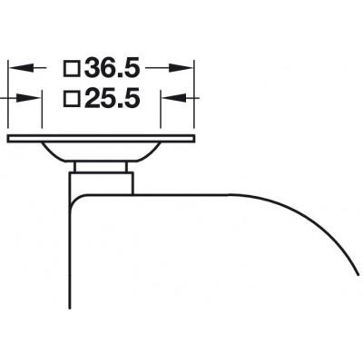 Колело ф50 мм, с планка, със стопер - HAFELE - Цена: 22.60 лв.