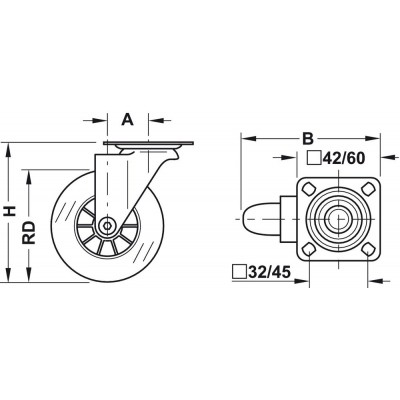 Колело мебелно, ф50 мм - HAFELE - Цена: 12.02 лв.