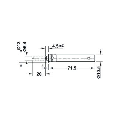 Шнапер за врата, монтаж в отвор, с гумен буфер, 20 мм - HAFELE - Цена: 4.64 лв.