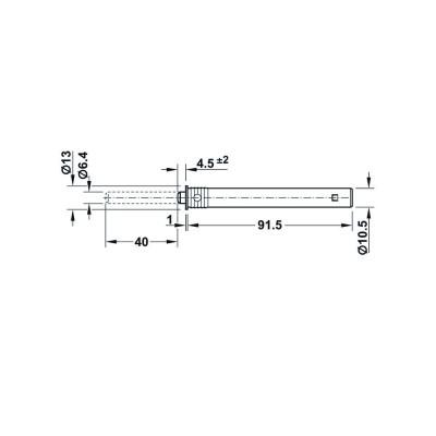 Шнапер за врата, монтаж в отвор, с гумен буфер, 40 мм - HAFELE - Цена: 4.72 лв.