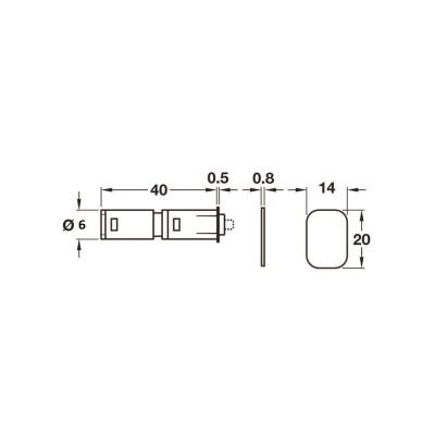 Магнитен push шнапер, чрез залепване - HAFELE - Цена: 11.23 лв.