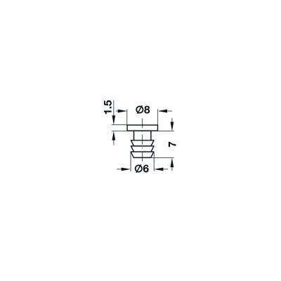 Буфер за врати, за монтаж в отвор Ø6 мм - HAFELE - Цена: 0.10 лв.