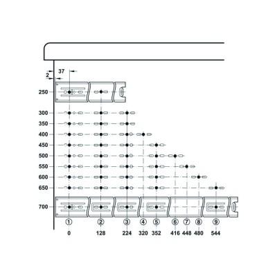 Механизъм за чекмедже, сачмен, пълно изтегляне - HAFELE - Цена: 11.56 лв.