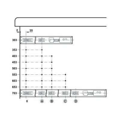 Механизъм за чекмедже, сачмен, частично изтегляне, плавно затваряне - HAFELE - Цена: 33.86 лв.