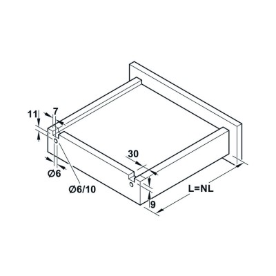 Механизъм за чекмедже, долен монтаж, пълно изтегляне, Push отваряне - HAFELE - Цена: 23.59 лв.