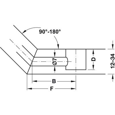Болт единичен шарнирен, 24 мм - HAFELE - Цена: 1.42 лв.