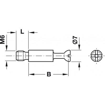 Болт с плътно тяло S100, Ø7 мм - HAFELE - Цена: 0.16 лв.
