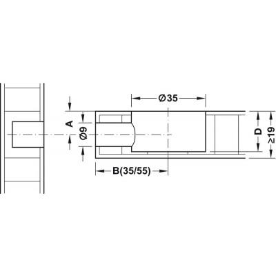 Ексцентрик MAXFIX E, PZ3 звезда - HAFELE - Цена: 1.07 лв.