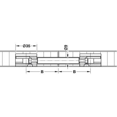 Болт двоен, MAXIFIX E, 56 мм - HAFELE - Цена: 0.68 лв.