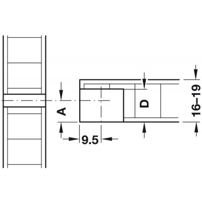 Ексцентрик RAFIX-SE, 19 мм - HAFELE - Цена: 0.37 лв.